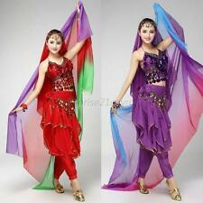 Fashion Women Gradient Veil Shawl Face Scarf Belly Dance Costume Silk-like  U56