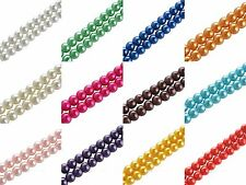 Wholesale Lots Glass Beads Loose Round Glass Pearl Spacer Beads 4/6/8/10mm