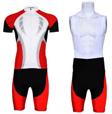 New Cycling Jersey (bib) shorts set red Bike Outdoor Sports Clothing Suit Jacket