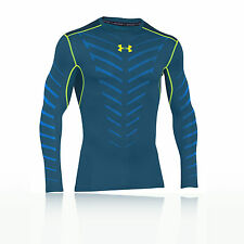 Under Armour Infrared Crew Mens Blue Coldgear Compression Running Sports Top