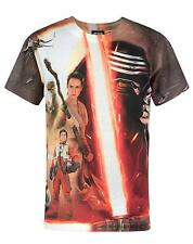 Official Star Wars Force Awakens Heroes & Villains Sublimation Boy's T-Shirt