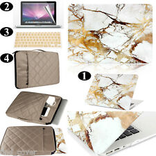 Gold Marble Pattern Hard Case Sleeve Bag Keyboard Cover For Apple Macbook
