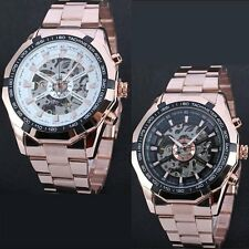 Men's Stainless Steel Automatic Self-Winding Mechanical Dial Analog Wrist Watch