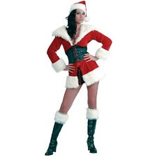 Sexy Santa Outfit Adult Mrs Claus Costume Womens Christmas Fancy Dress