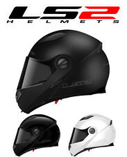 MOTORCYCLE HELMET MODULAR LS2 FF370 EASY MATTE BLACK WHITE BRIGHT COUNTERPART