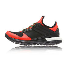 Adidas Response Boost Thunder Womens Red Trail Running Sports Shoes Trainers
