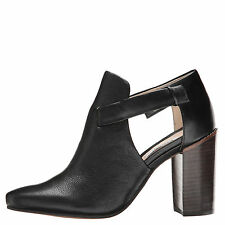 Clarks Crumble Sugar Black Women's Cutout Leather Ankle Boot 10879