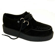 T.U.K A7270 TUK Suede Black Suede Creeper Rockabilly