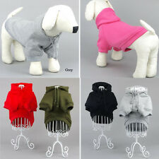 Small Pet Puppy Dog Cat Winter Warm Pullover Coat Sport Clothes Hoodie Sweater