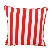 FFC-142 Stripes Quality Canvas Zippered Cushion Cover Case Piping Custom