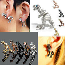 Women Gothic Punk Rock Temptation Dinosaur Dragon Ear Cuff Wrap Clip Earring l