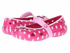NEW Crocs Kids Keeley Minnie Flats Girls Shoes SZ 13 Pink