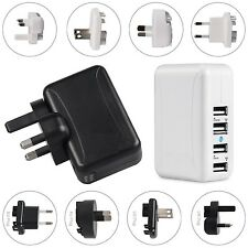 4 Port 4 Plug USB Mains Wall Charger Travel Adaptor Fast Charging For Mobile TAB