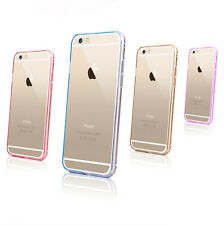 New Transparent Hard Back Silicone Gel TPU Bumper Case Cover For iPhone Apple