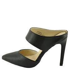 Anne Michelle Steppup 03 Black Women's Double Strap Mule Pumps