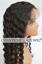 Indian 100% Remy glueless Wig Full Lace Wigs Deep Wave Curly Baby Hair For Women