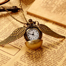 Harry Potter Snitch Watch Necklace Steampunk Quidditch Pocket Clock Pendant Gift