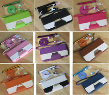 Varied Color PU Leather Wallet Stand Flip Pouch Case Cover For iPhone 5C 5c