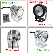 1/5/10/20x 10W RGB Warm Cool White LED Underwater Light Outdoor Pond Yard Lamps
