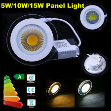5W 10W 15W COB LED Recessed Ceiling Panel Light Downlight Lamp Day/Warm White LF