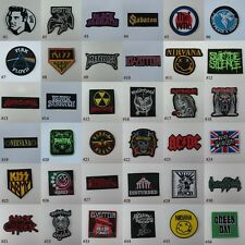 MUSIC SONGS HEAVY METAL BAND LOGO EMBROIDERED SEW IRON ON PATCH T-SHIRT JACKET#A