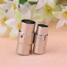 10pcs Magnetic lock clasps glue-in 3-8 mm Silver Plated leather Jewelry Finding