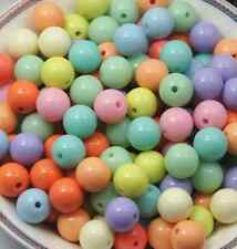 wholesale 50/100pcs Candy color beads round bead acrylic beads scattered beads