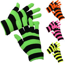 New Girls Neon Magic Gloves Standard + FIngerless One Size Fits Most