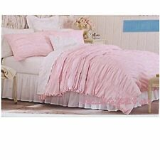 NEW Simply Shabby Chic® Textured Ruched Duvet Cover Set - Pink ~ Twin Full/Queen