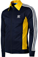 Mens New Adidas Originals Europa Full Zip Track Top Tracksuit Jacket - Navy Blue