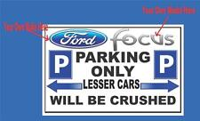 RETRO METAL PLAQUE :Personalised Parking Space sign/ad