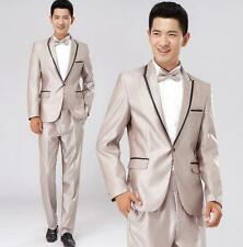 Fahion Mens Slim Fit Formal Suit/Suits one -Button Suit Set Jacket Casual Pant #