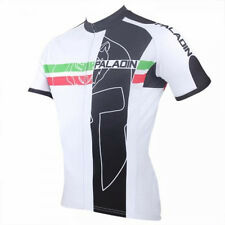 Paladin Cycling Clothing Bike Short Sleeve Cycling Jersey Classic Black White