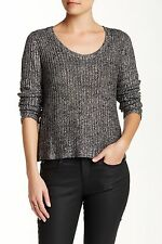 NWT Eileen Fisher Shimmer Knit Scoopneck Box Top Sweater Ash $298 – PL, 2X