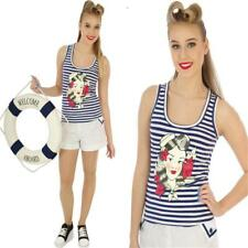 COLLECTIF SAILOR GIRL VEST TOP 50'S ALTERNATIVE