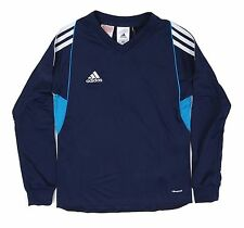 Adidas Youth Climacool Soccer Team 14 Jersey L/S Navy Shirts Junior GYM D87380