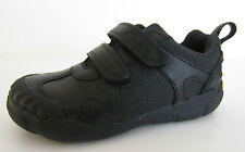Clarks 'Stompo Day Inf' Boys Black Leather School Shoes UK Size 7.5 F Fitting