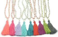 Knotted NATURAL FRESH WATER Pearl Beads Meditation Mala Prayer NECKLACE/BRACELET