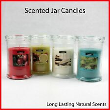 Scented Glass Jar Candles 100% Soy Wax Candle Scents Fragrance Fragrant Natural