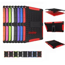 3D 2in1 Skip-Proof Dual Layer Grenade Grip Rugged Hard Case TPU Cover For iPad