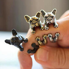 Fashion Cute Dog Ring Pet Antique Vintage Animal Gift Puppy Wrap Adjustable Hot