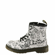 Dr. Martens Delaney Wigan Wiggy World Juniors White Combat Boot 15382104