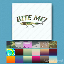 Bite Me Fishing Lure - Vinyl Decal Sticker - Multiple Patterns & Sizes - ebn802