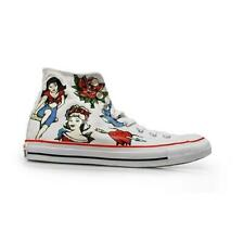 CONVERSE CT HI Tattoo Canvas White Trainers 145643C