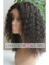 6A Indian Remy Human Hair Full Lace Wigs Curly Glueless Full Wig For Black Women