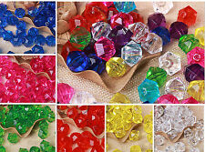 Wholesale 100pcs 12mm mixed color Plastic Bicone Beads Exquisite Free Shipping
