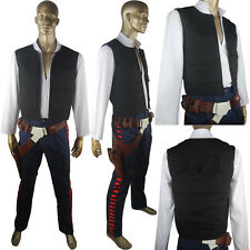 Star Wars ANH Han Solo Outfit Halloween Cosplay Costume Belt Holster Full Set