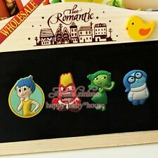 4PCS Inside out Cartoon Fridge Magnets,PVC Magnetic Stick Office Supplies Gifts