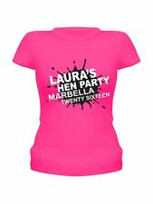 HEN NIGHT T-SHIRTS PERSONALISED HEN PARTY T-SHIRTS VEST TOPS PAINT SPLAT DESIGN