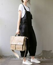 Stylish Womens Loose Strappy Jumpsuit Romper Overall Casual Linen Pants Dress